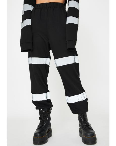 Over Tha Limit Reflective Joggers