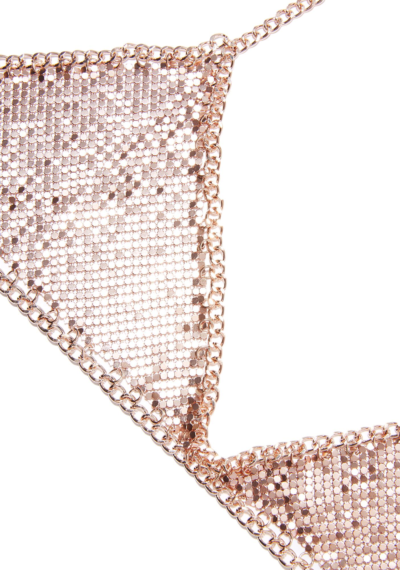 Sunset Glow Chainmail Bralette