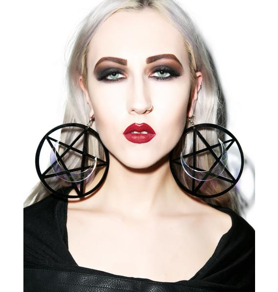 Marina Fini X Dolls Kill Luna Pentagram Earrings