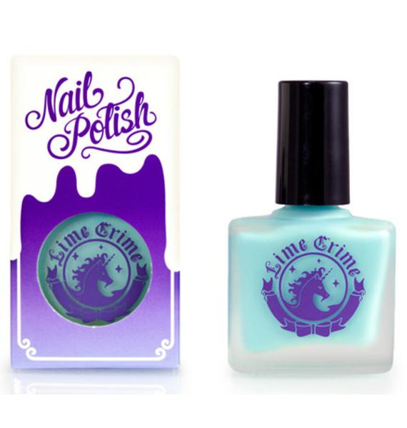 Lime Crime Once In A Blue Mousse Opaque Nail Polish