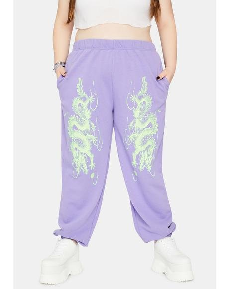 Curve Dragon Jogger Sweatpants
