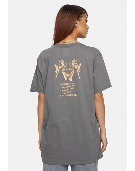 The Butterfly Print Graphic Tee