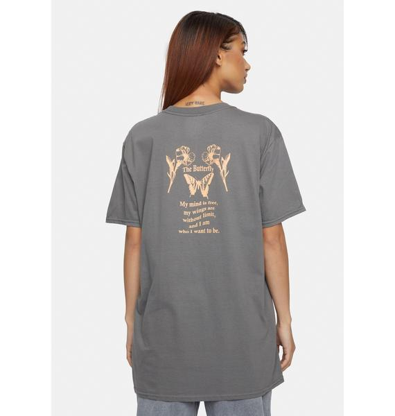 Daisy Street The Butterfly Print Graphic Tee