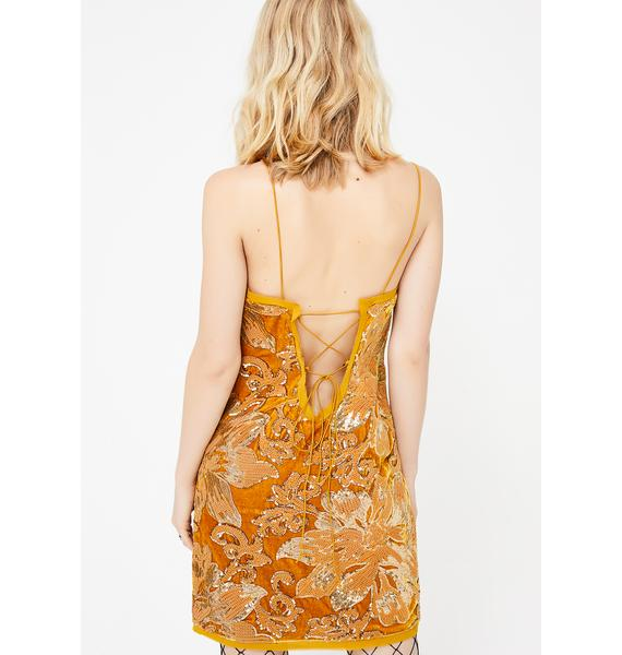 Belle Burnout Velvet Dress