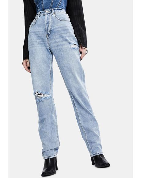 Indigo Raider Straight Up Relaxed Jeans