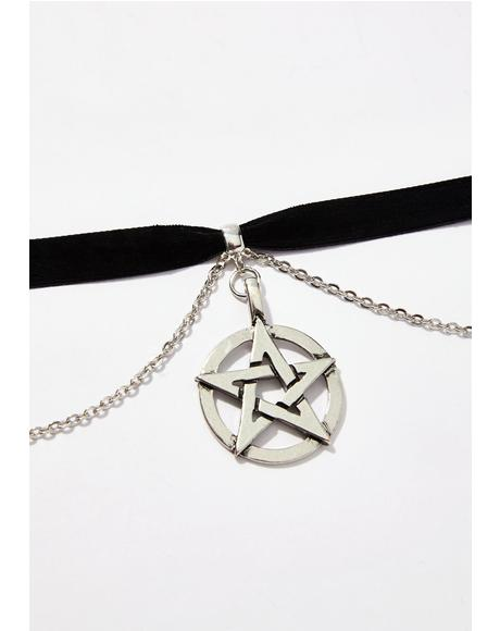 New Coven Pentagram Choker