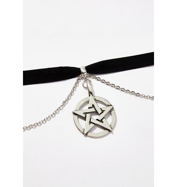 New Coven Pentagram Choker
