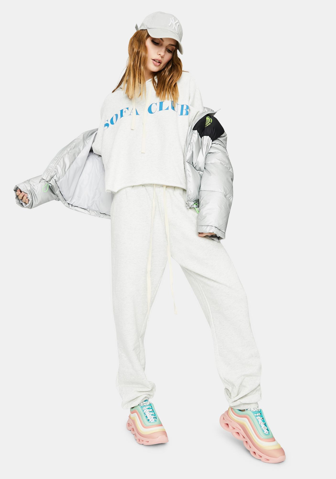 Bailey Rose Heather Grey Couch Club Sweatshirt