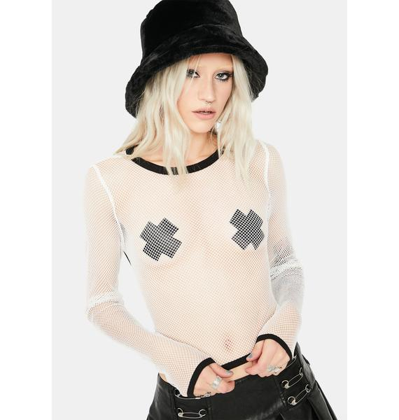 What About Us Fishnet Top