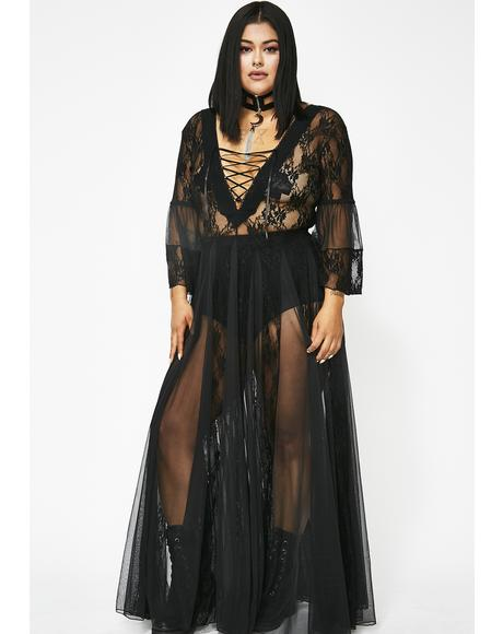 Pitch Dark Modern Love Maxi Dress