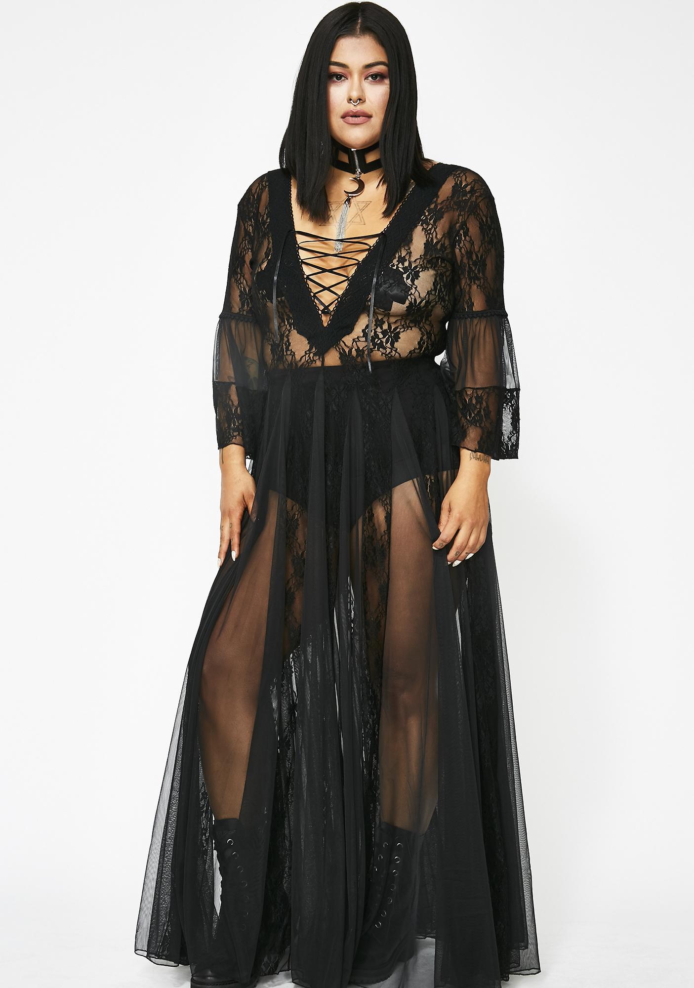Kiki Riki Pitch Dark Modern Love Maxi Dress b70c0b8aa