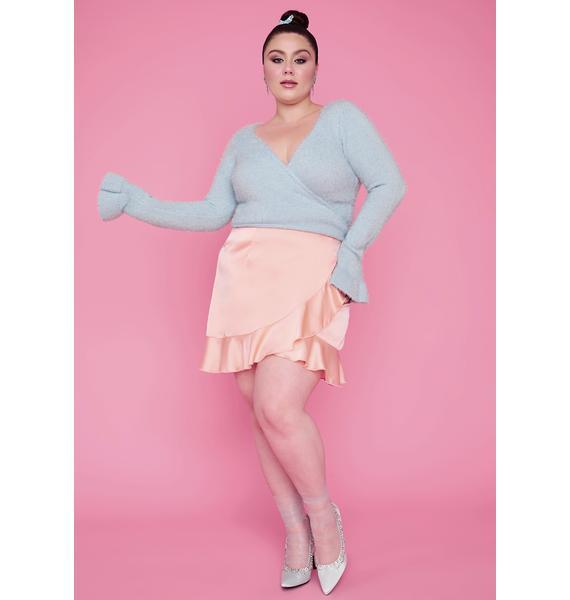 Sugar Thrillz Aqua Gotta Cherish My Love Wrap Sweater