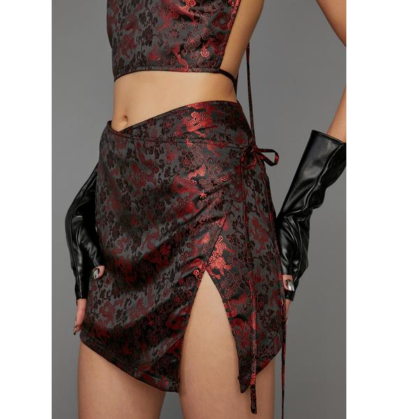 Poster Grl Clout Games Wrap Skirt