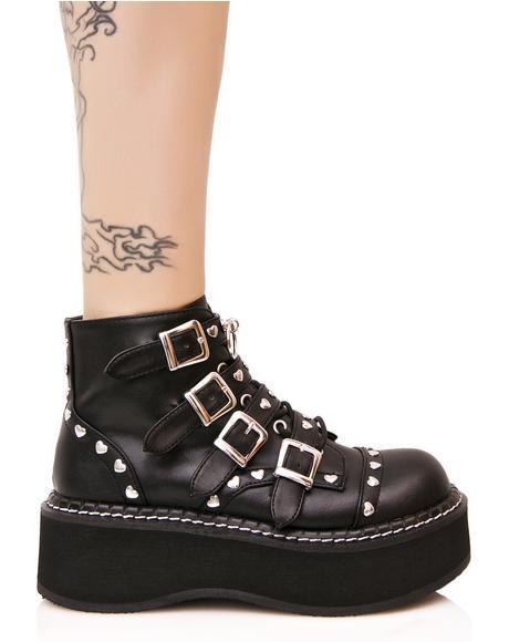 Emily Buckled Platform Boots