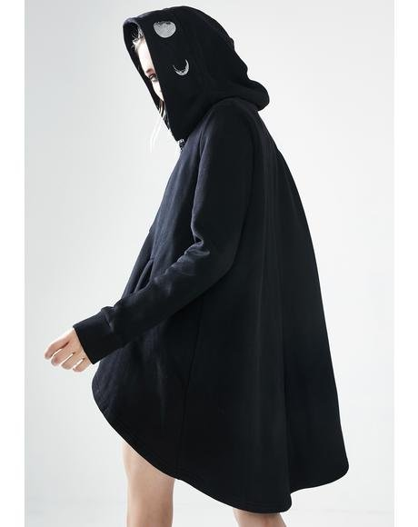 Moon Graphic Hooded Cloak