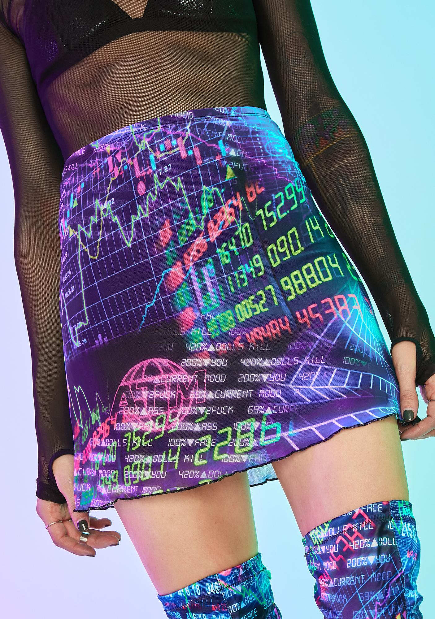 Current Mood Time Continuum Mesh Skirt