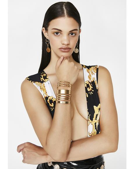 Gold Get On My Level Cuff Set