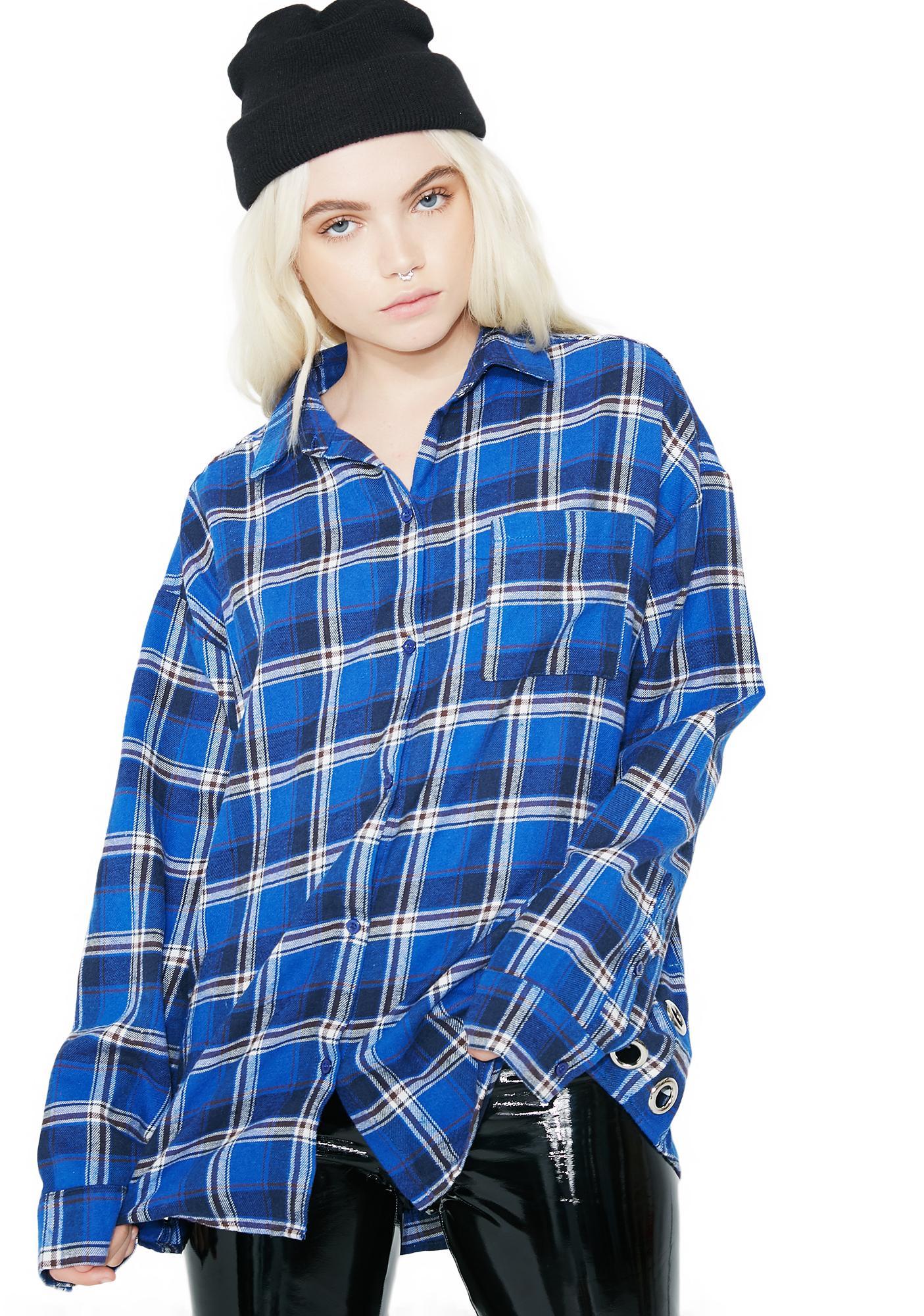 303b65cd8144f3 Plaid Grommet Blue Flannel Top