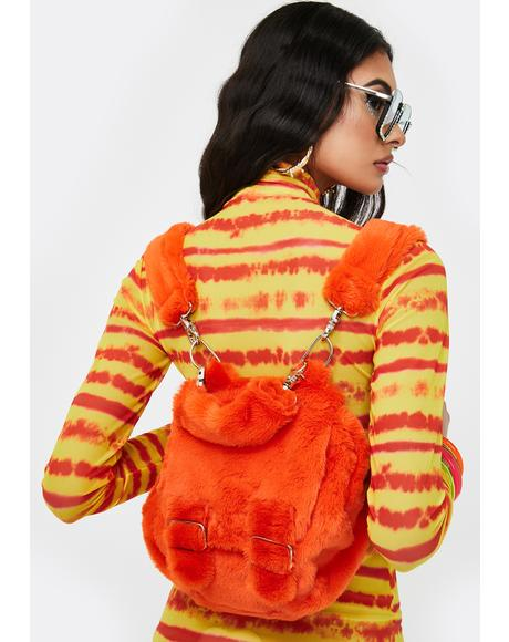 Orange Purr Purr Mini Backpack