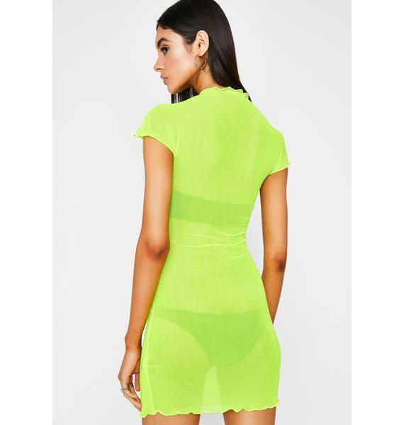 Electric Naughty Talk Sheer Dress