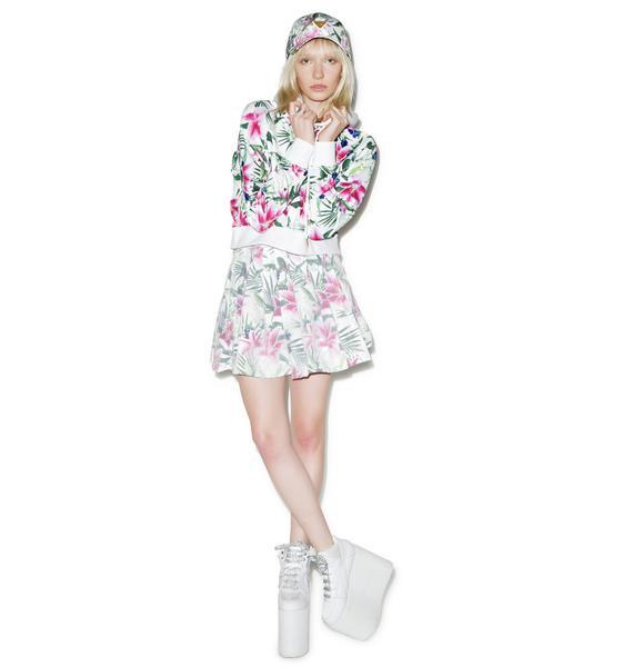 Joyrich Optical Garden Pleats Skirt