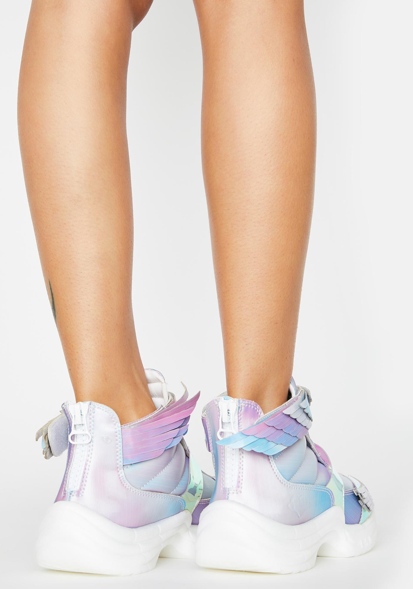 ESQAPE 5D Pastel Flyh Hi Sneakers