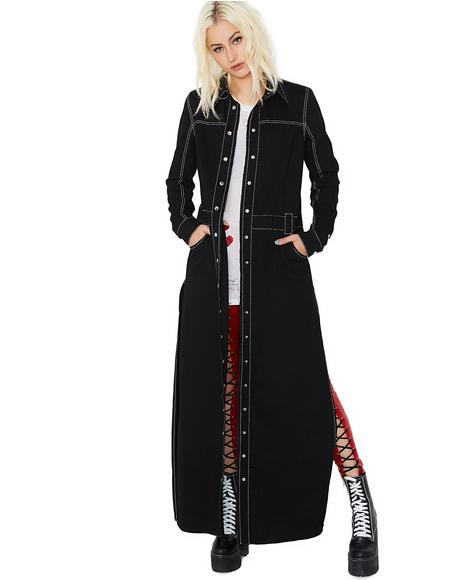 Exact Revenge Lace-Up Denim Duster