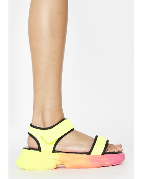 Atomic Joy Jumpin' Platform Sandals