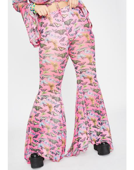 True Lovebug Mesh Bell Bottoms