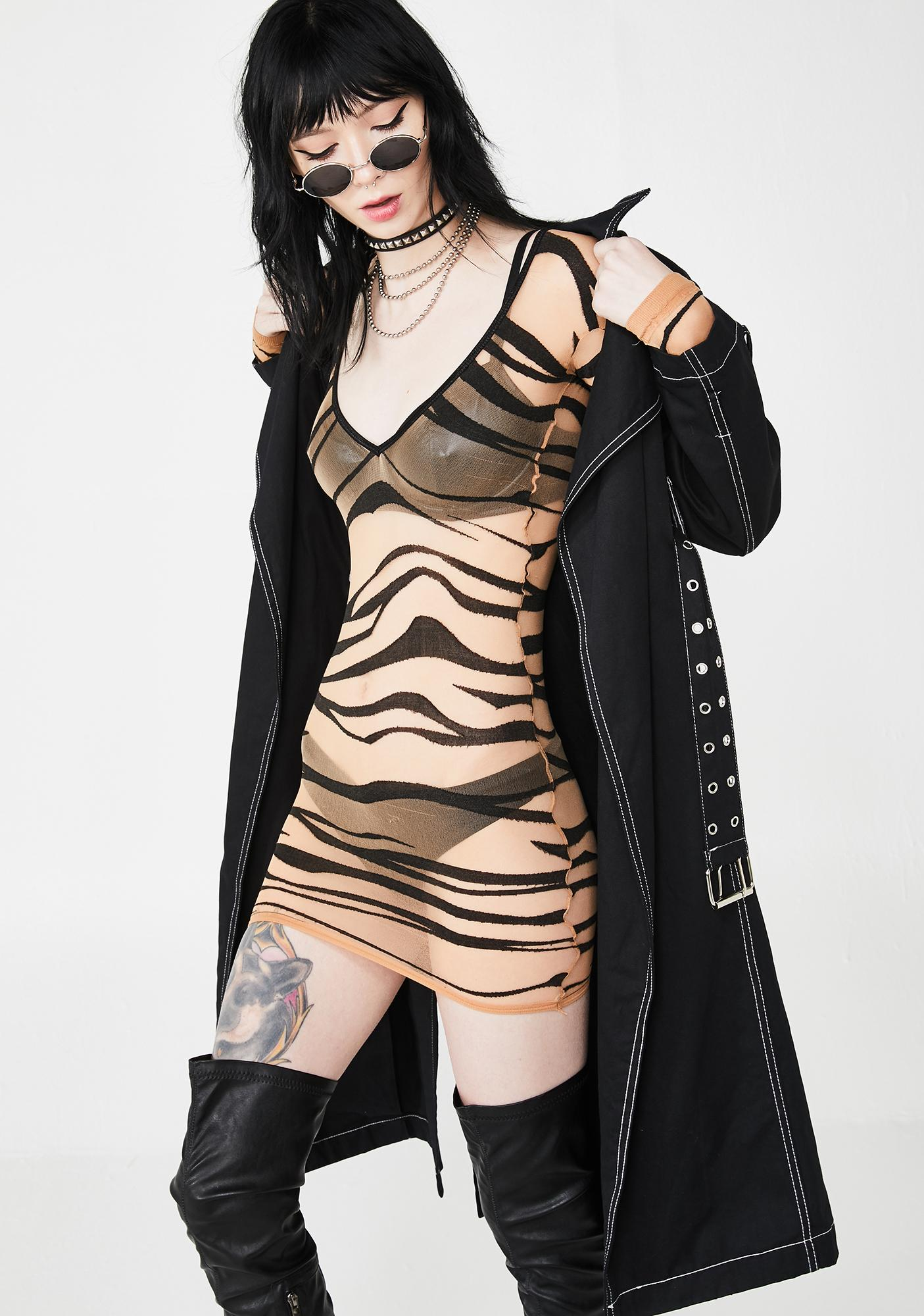 Ruthless Revolt Zebra Dress