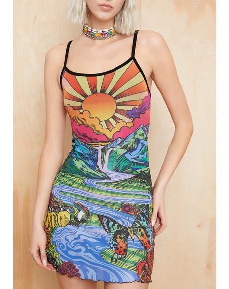 California Dreamin' Mesh Dress