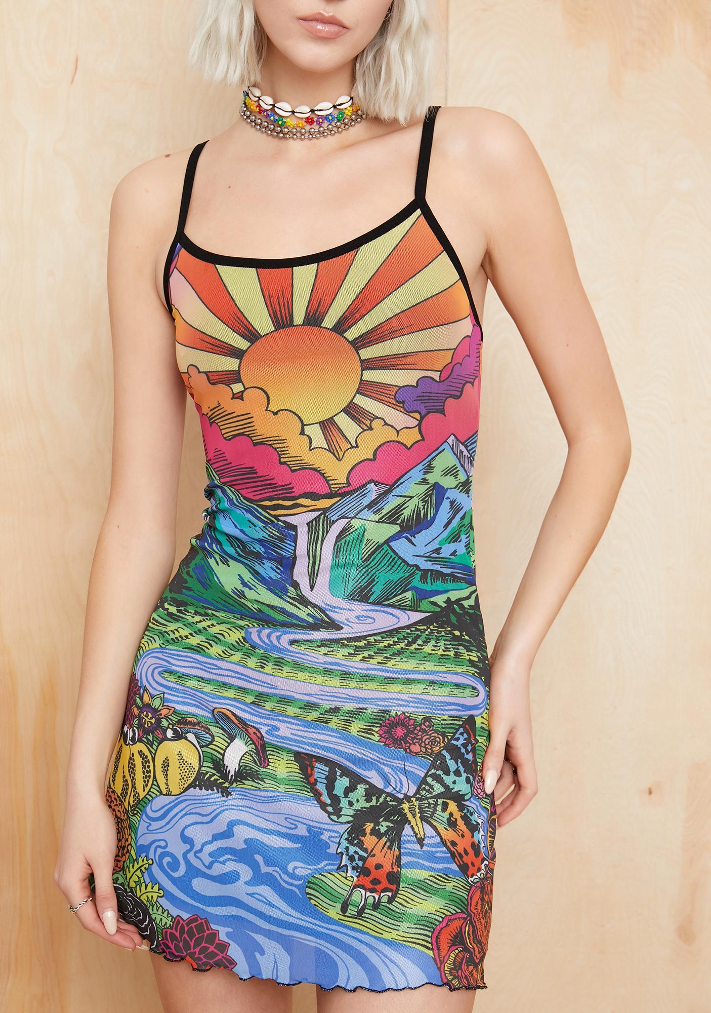 Current Mood California Dreamin' Mesh Dress