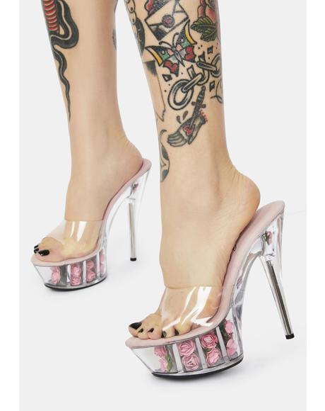 Sweet Divine Desire Rose Platform Heels