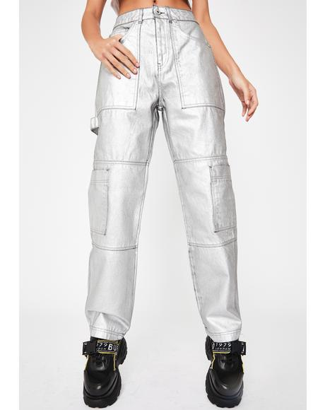 Satellite Metallic Jeans