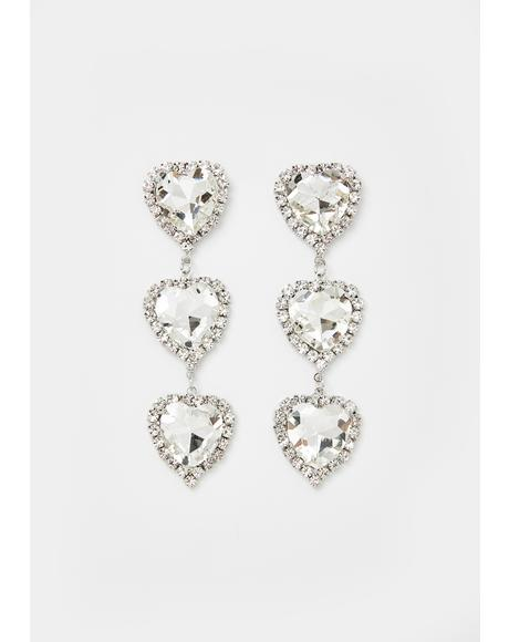 Love Times Three Jewel Earrings