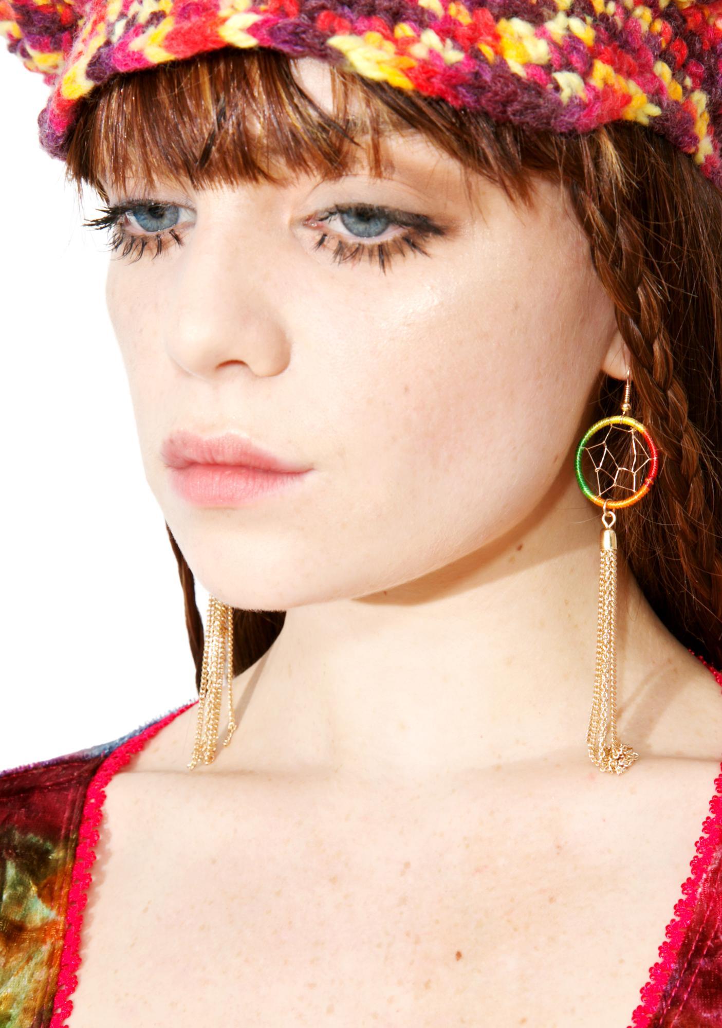 Hazy Dreamer Fringe Earrings