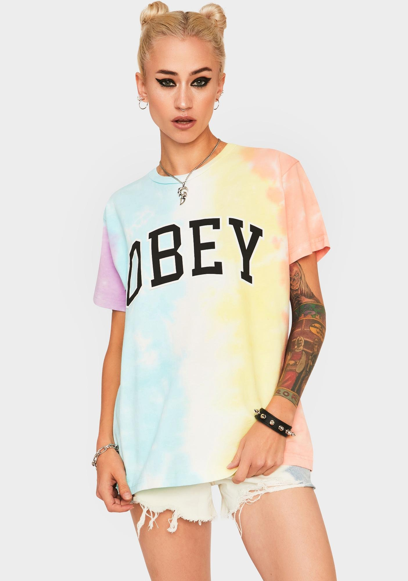 Obey Academic Custom Tie Dye Tee