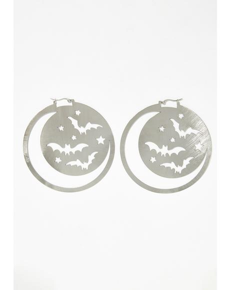 Flutter In The Night Hoop Earrings