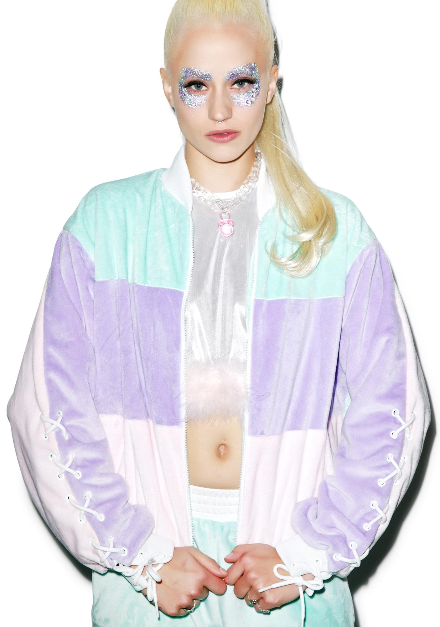 Coveted Society Pastel Faux Fur Jacket
