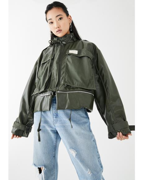 Vinyl Adjustable Length Utility Jacket
