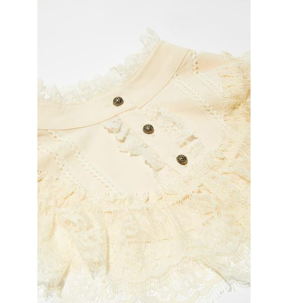 Widow Ivory Heads Will Roll Lace Collar