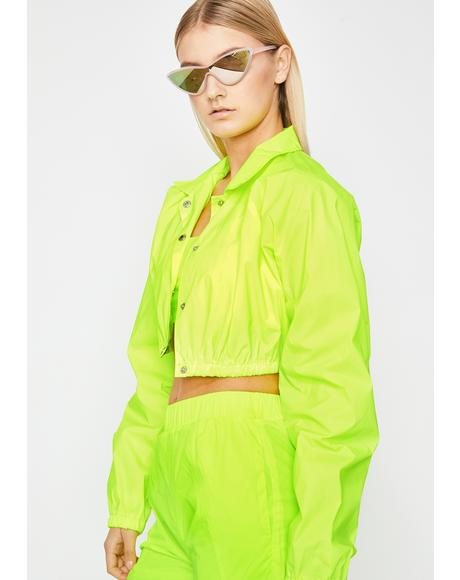 Lemon Flash Flavour Reflective Jacket