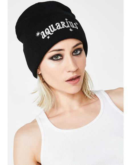 Aquarius On The Brain Beanie
