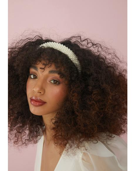Ivory Chaotic Cotillion Pearl Headband