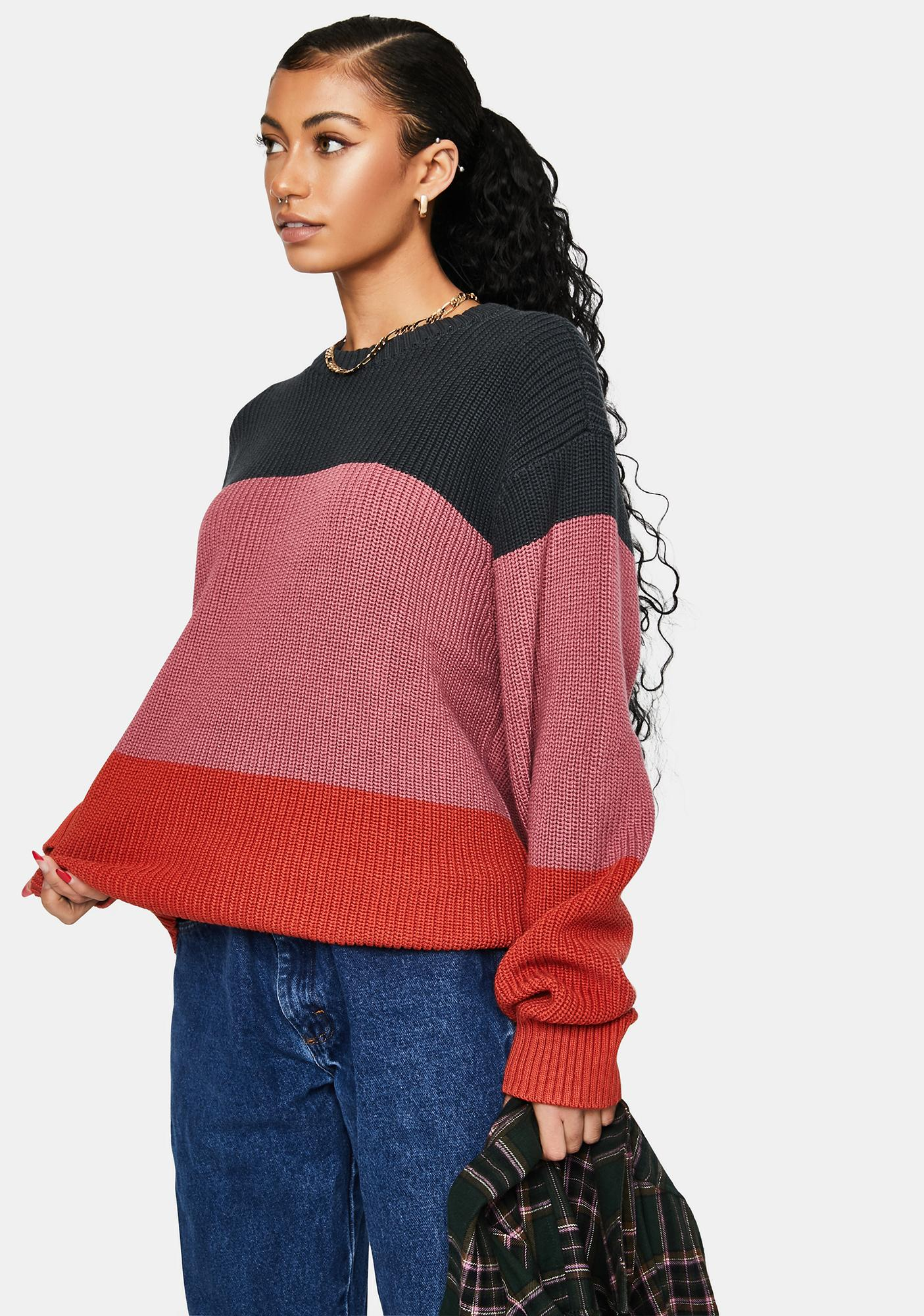 Obey Joni Striped Sweater