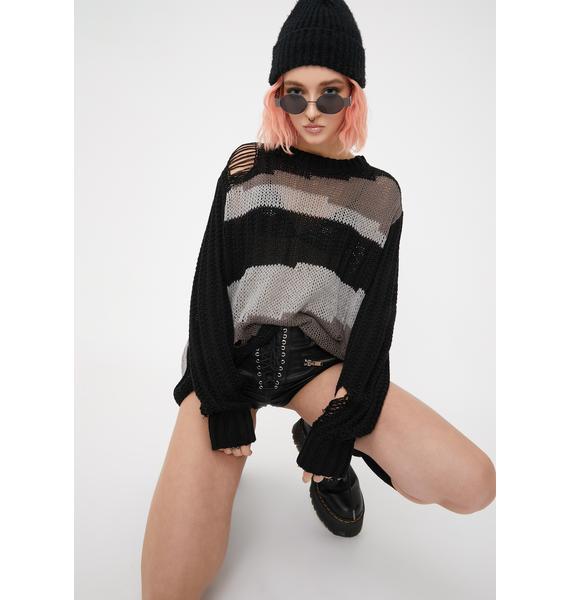 Disturbia Vacant Knit Jumper