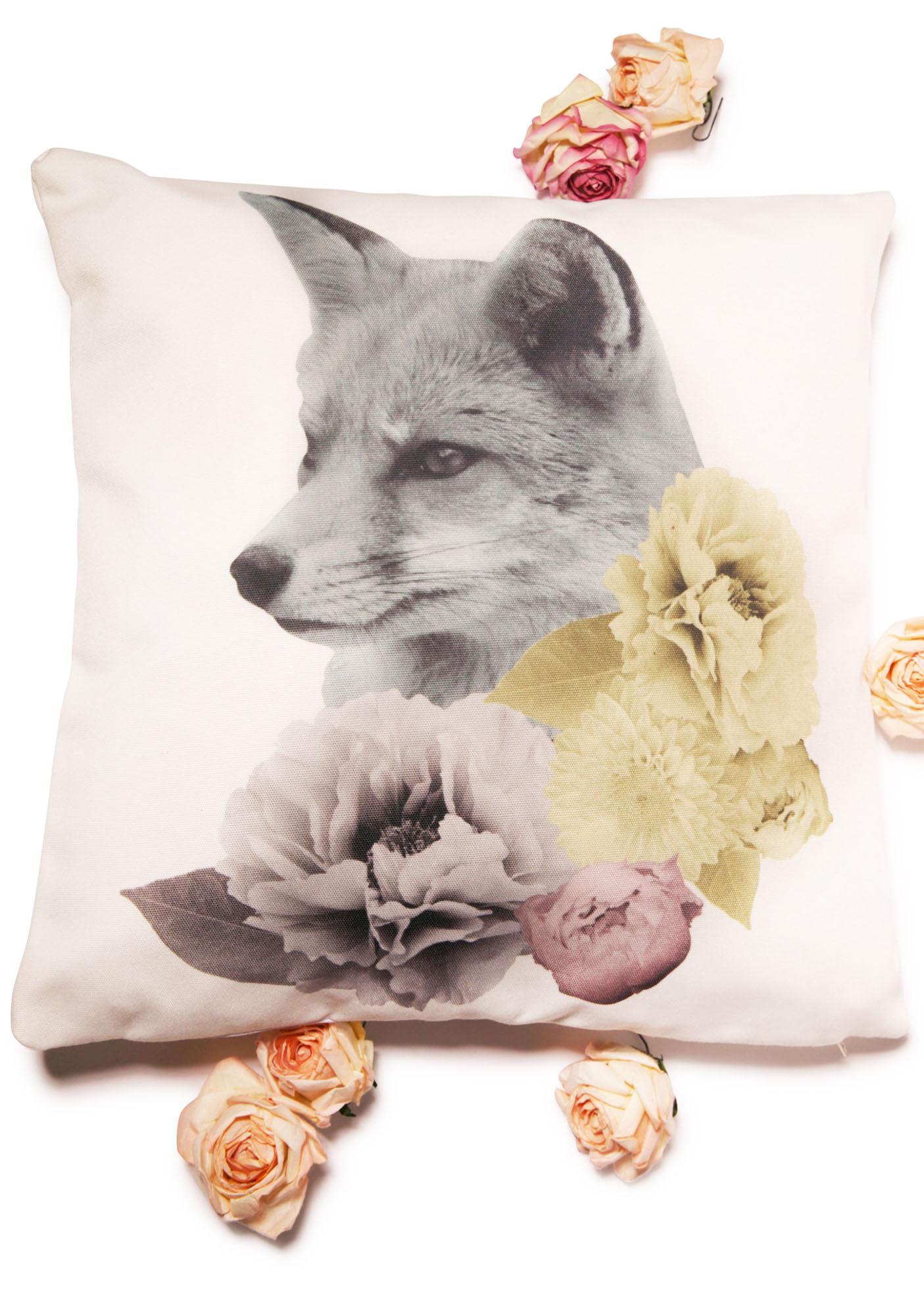Fox n' Flora Pastel Pillow