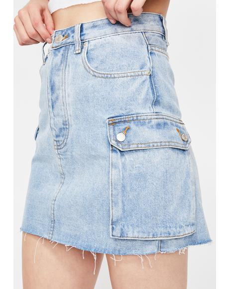 Just Chillin' Denim Skirt