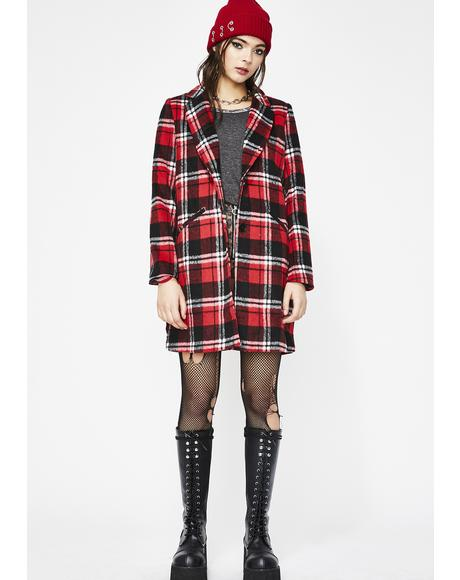 Wanna Play Plaid Coat