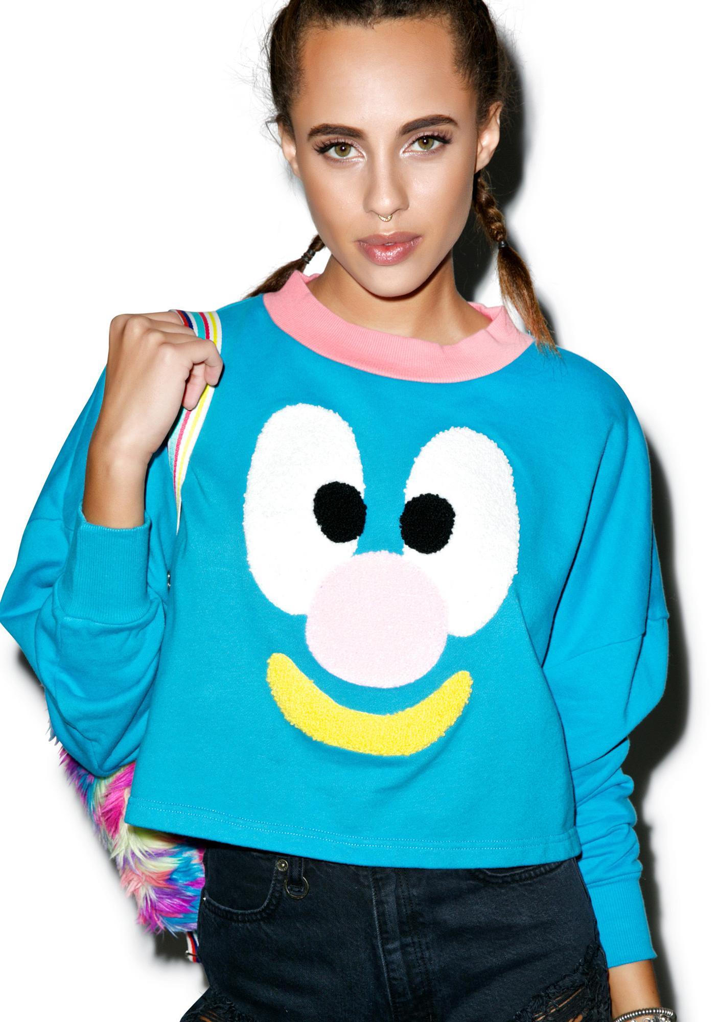 Lazy Oaf Face Sweatshirt